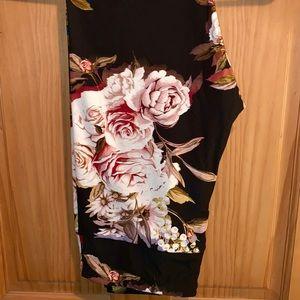 LuLaRoe Pants - ❌SOLD❌ NWT TC LLR Pink Roses Print Black Leggings
